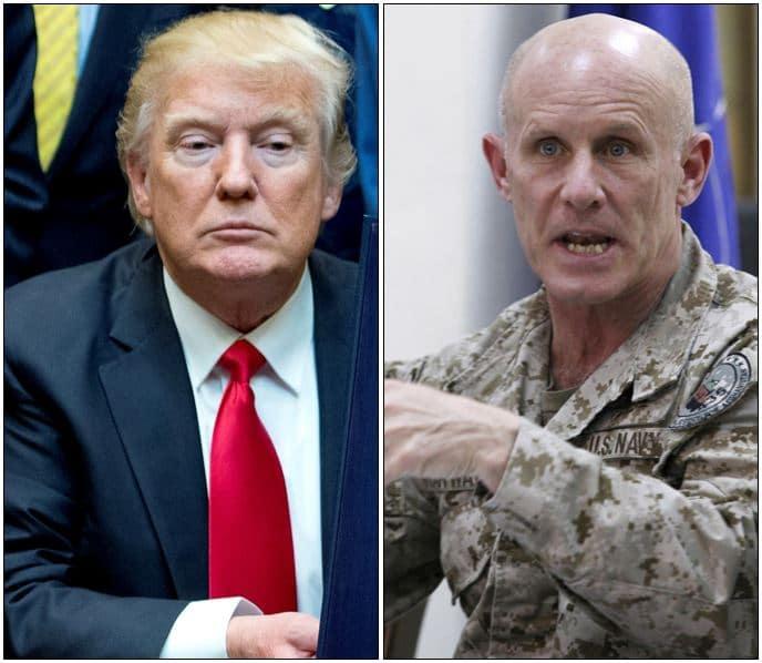 Donald Trump y vicealmirante Robert Harward