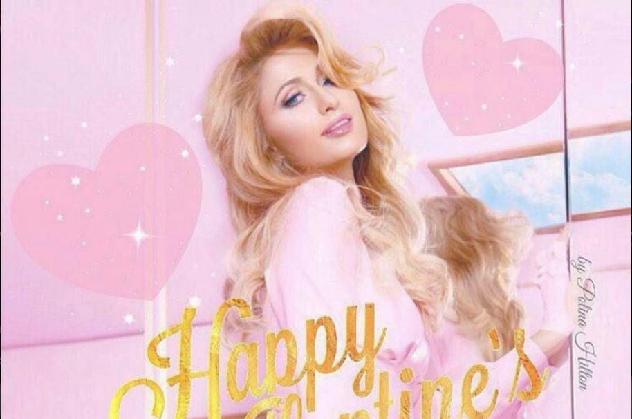 Paris Hilton celebró el día de San Valentín