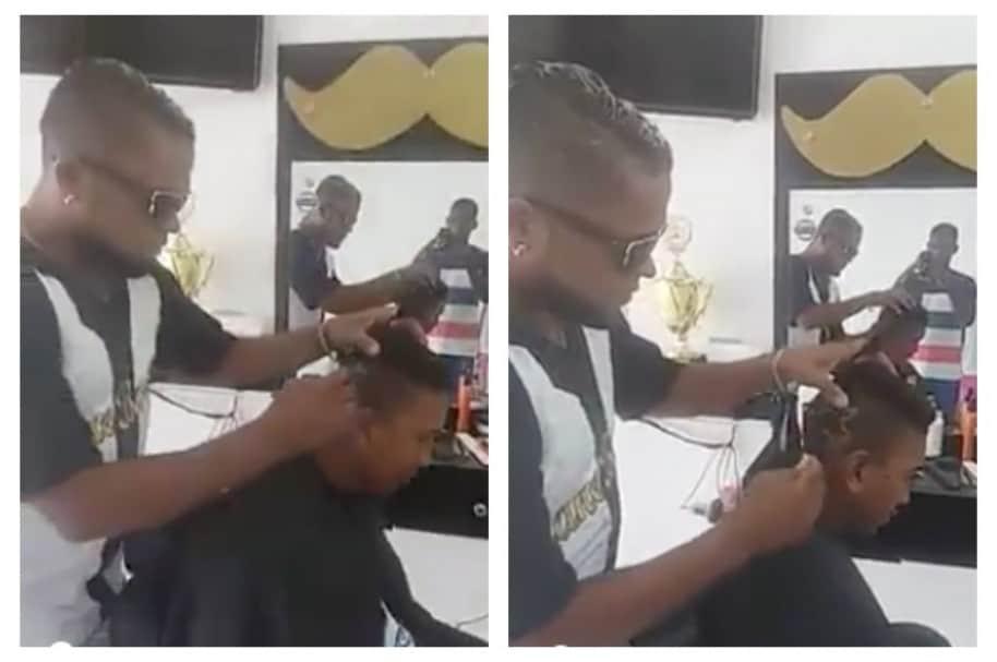 Corte de pelo que representa encuentro sexual entre un costeño y una burra. Pulzo.com