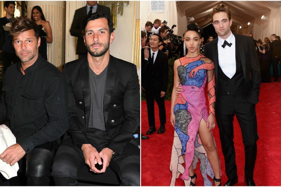 Ricky Martin y Jwan Yosef / Robert Pattinson y FKA Twigs
