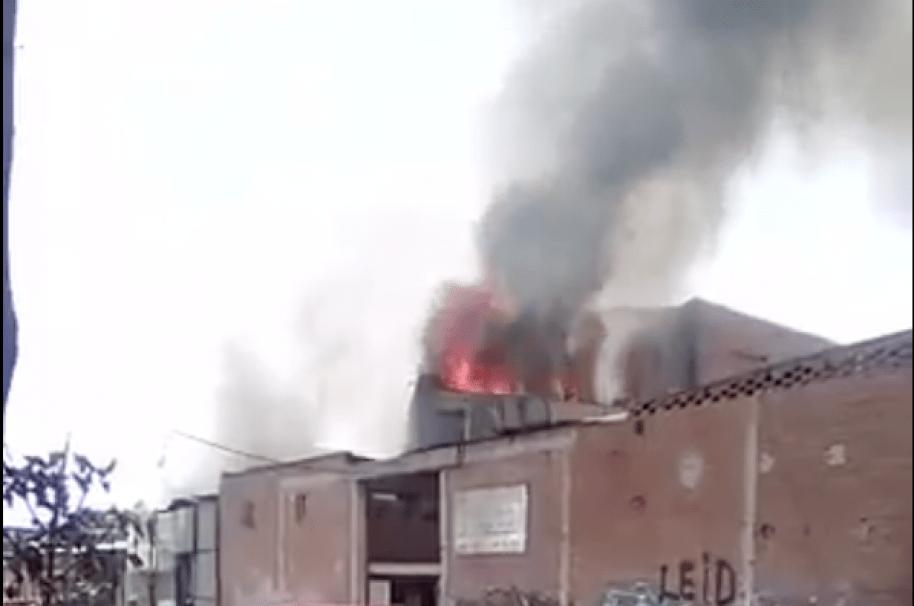 Incendio en Puente Aranda.