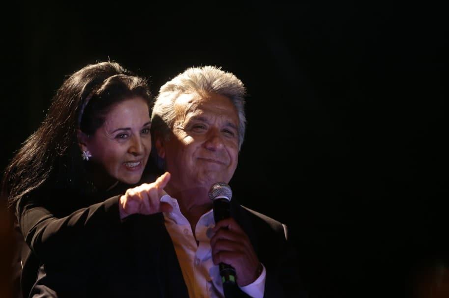 Lenín Moreno y su esposa Rocío Gonzales