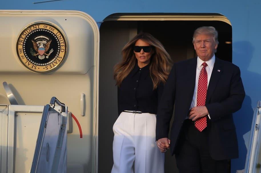 Melania y Donald Trump en Mar-A-Lago