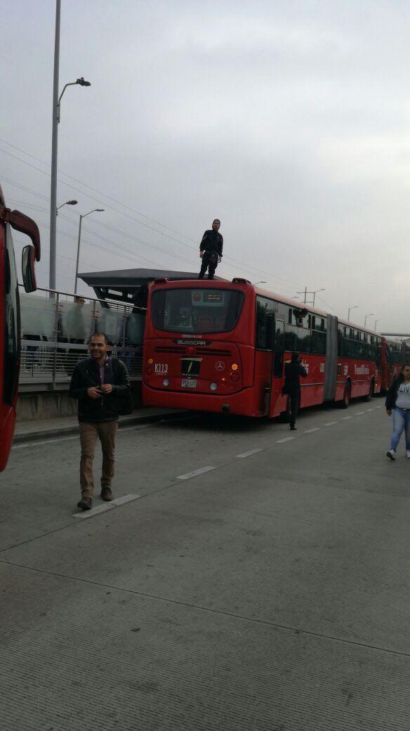 Bloqueos en estación de Transmilenio, en Soacha