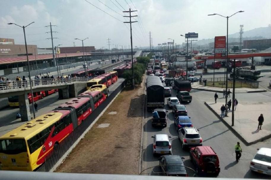 Afectación en la movilidad de Soacha por bloqueos en Transmilenio