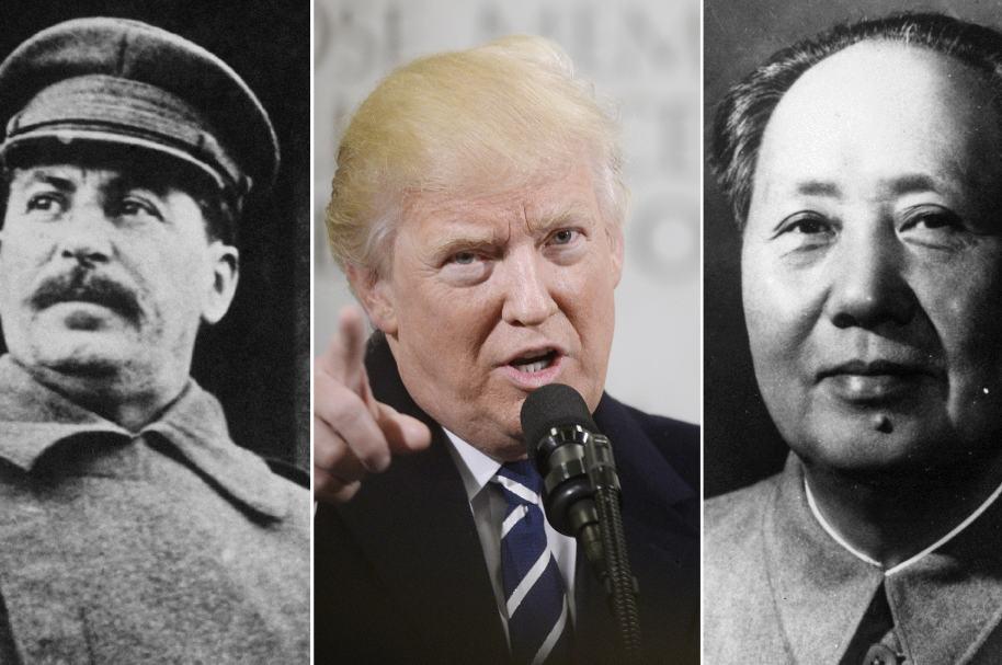 Iosif Stalin, Donald Trump y Mao Zedong