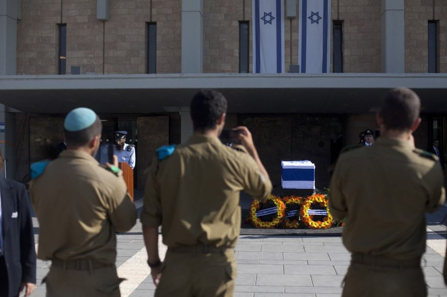 Respects Are Paid To Former Israeli President Shimon Peres