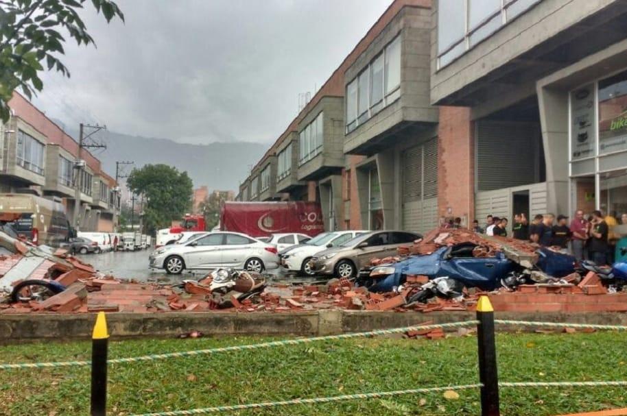 Aguacero en Medellín
