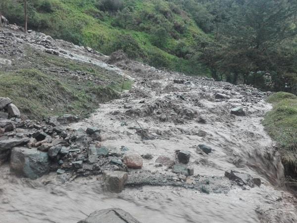Desbordamiento del río Amoladero