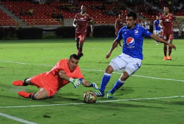 Pasaje del partido Millonarios-Tolima.