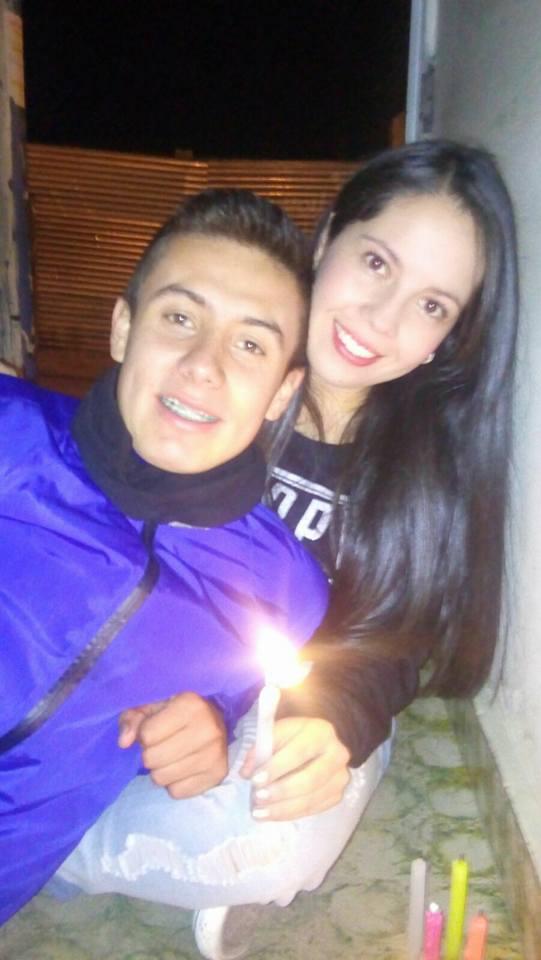 Patrullero Albeiro Garibello y Paula Muñoz