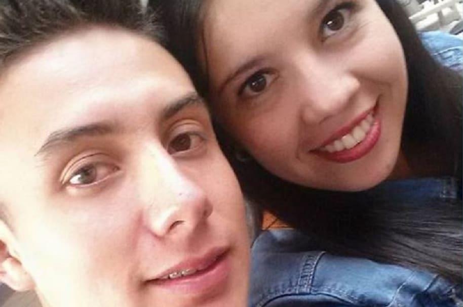 Patrullero Albeiro Garibello con su novia Paula Muñoz