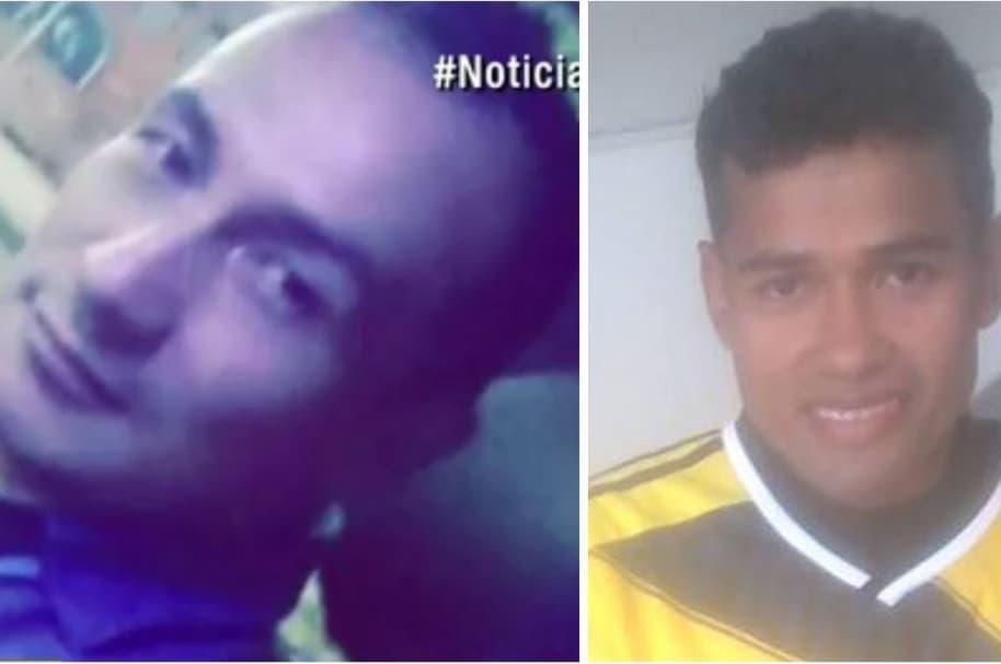 Ángel Giovanny Aparicio (conductor de ambulancia) y Gustavo Manuel Vidal Contreras (Tapicero)