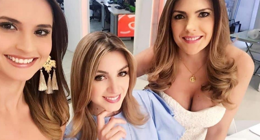 Carolina Araujo, Maritza Aristizábal y Ana Karina Soto, presentadoras de Noticias RCN.