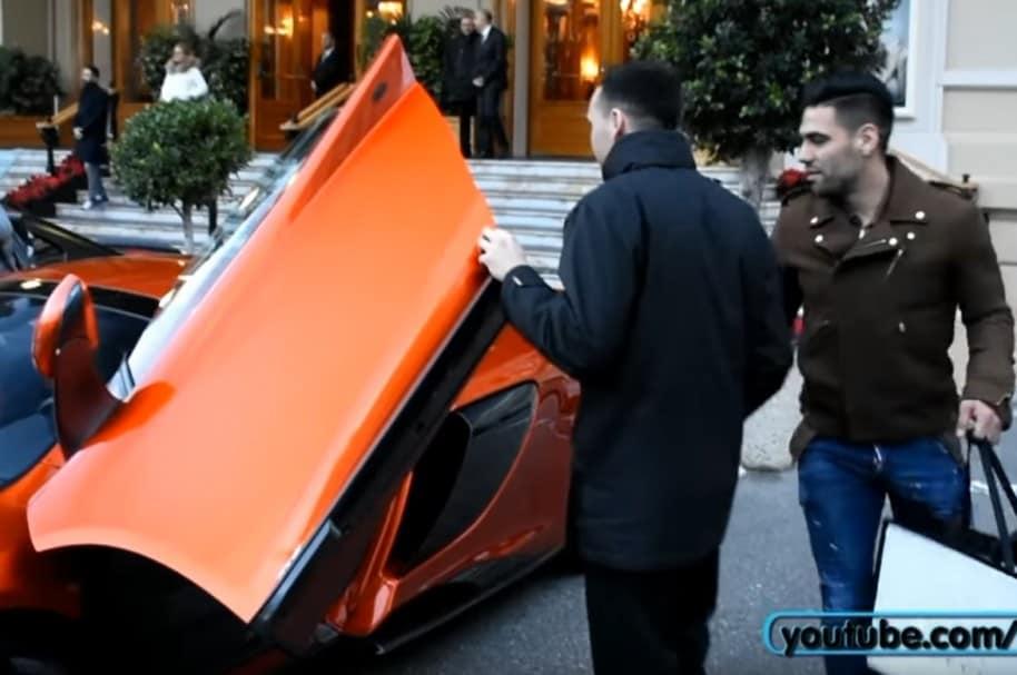 Falcao en su McLaren