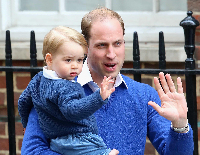 El príncipe William con su hijo