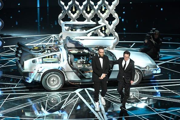 Michael J. Fox y Seth Rogen