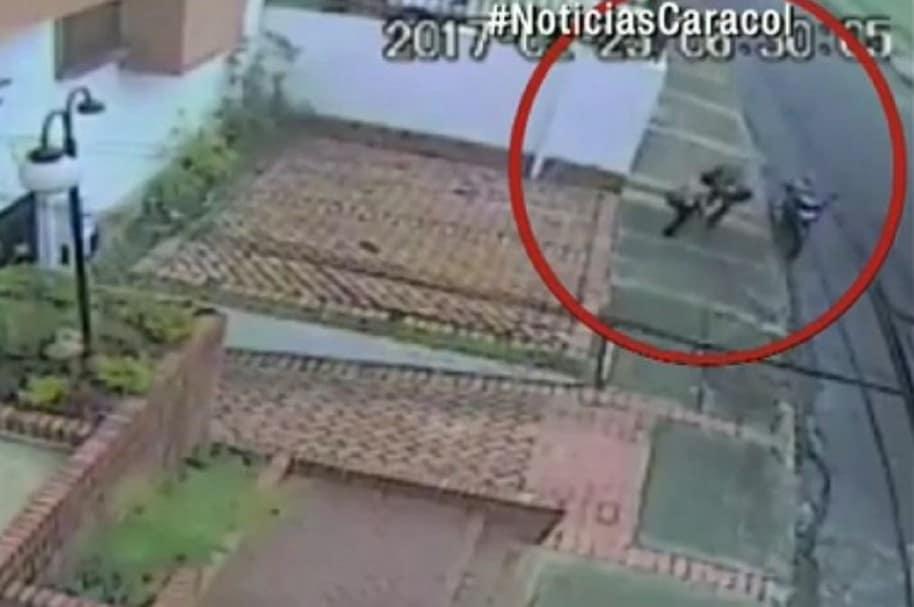 Ladrón de botas en Bogotá
