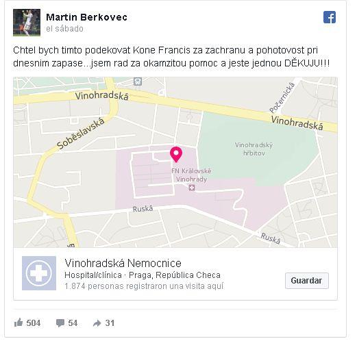 Facebook de Martin Berkovec