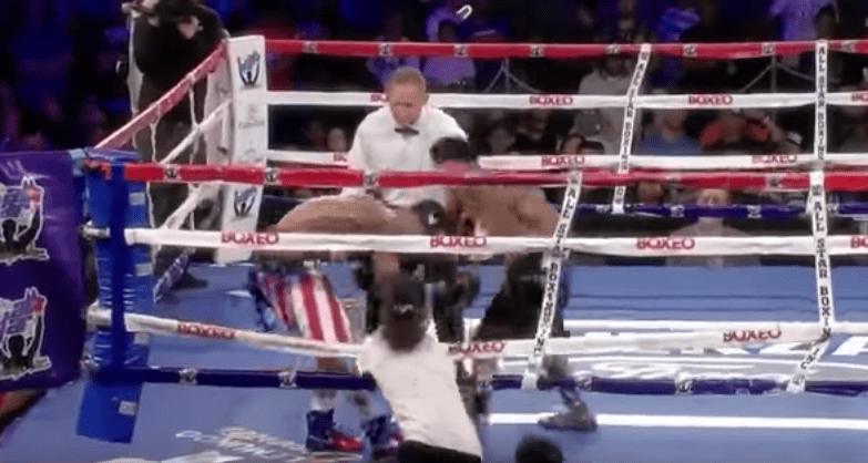 Pelea entre boxeadores Joshua Pagan y José Resendez. Pulzo.com