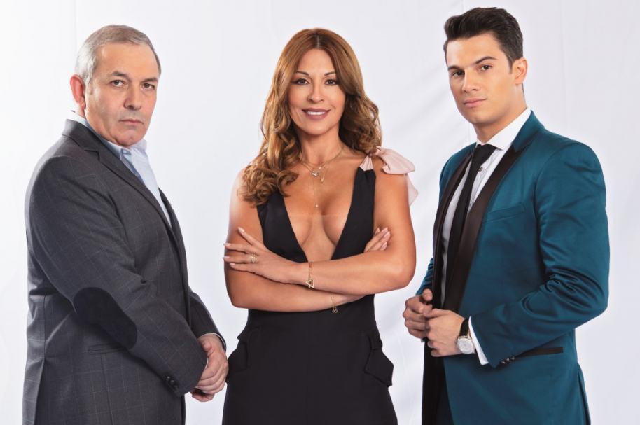 César Escola, Amparo Grisales y Pipe Bueno, jurados de 'Yo me llamo'.