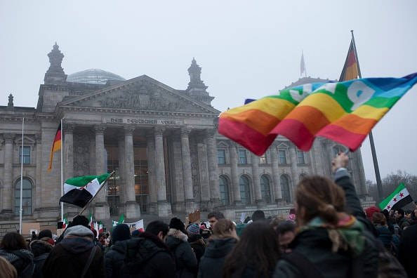 Protest Against the Syria-War in Berlin