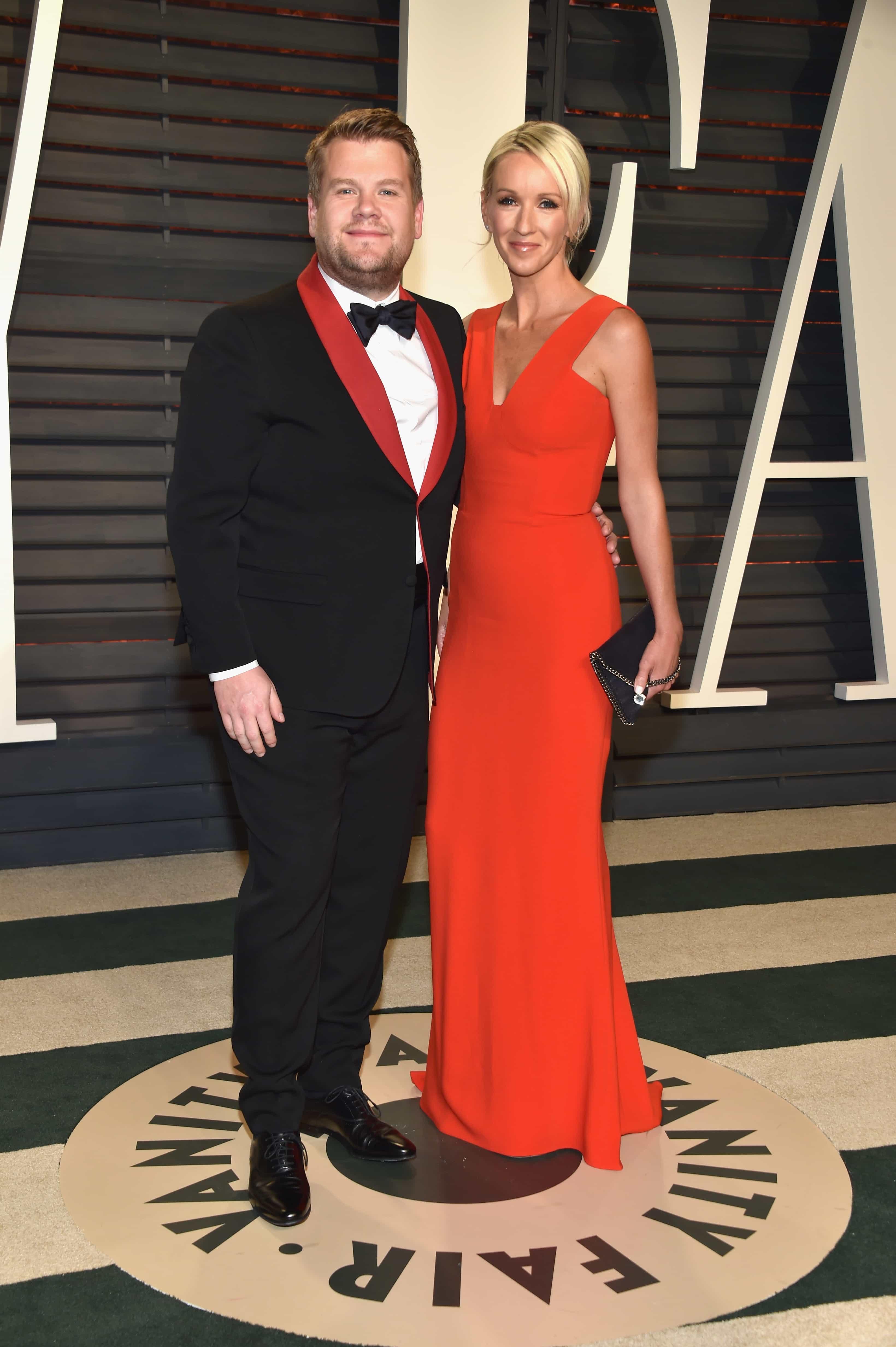 James Corden y  Julia Carey