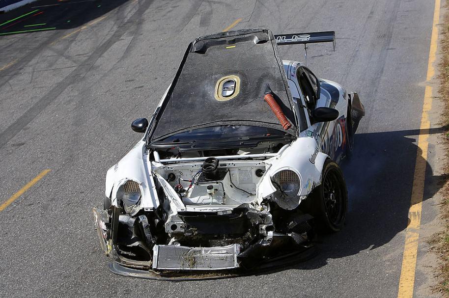 Choque de un Porsche.