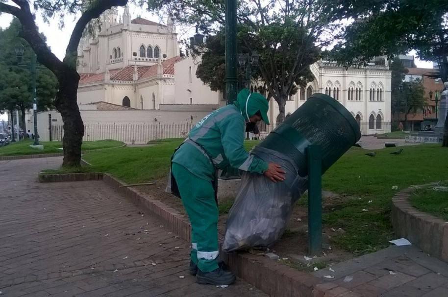 Recolección de basuras en Bogotá
