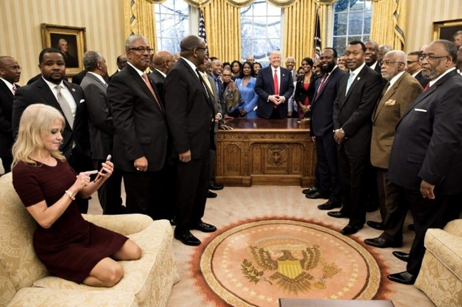 Kellyann Conway, asesora del presidente estadounidense Donald Trump.