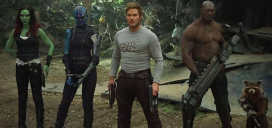 Chris Pratt y Zoe Saldana en 'Guardianes de la galaxia Vol. 2'