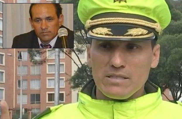Coronel Germán Jaramillo, comandante de Policía de Tránsito de Bogotá y Álvaro Duarte, concejal de Nemocón