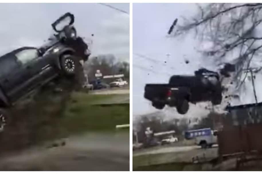 Camioneta robada por recluso 'vuela' durante persecución policial. Pulzo.com