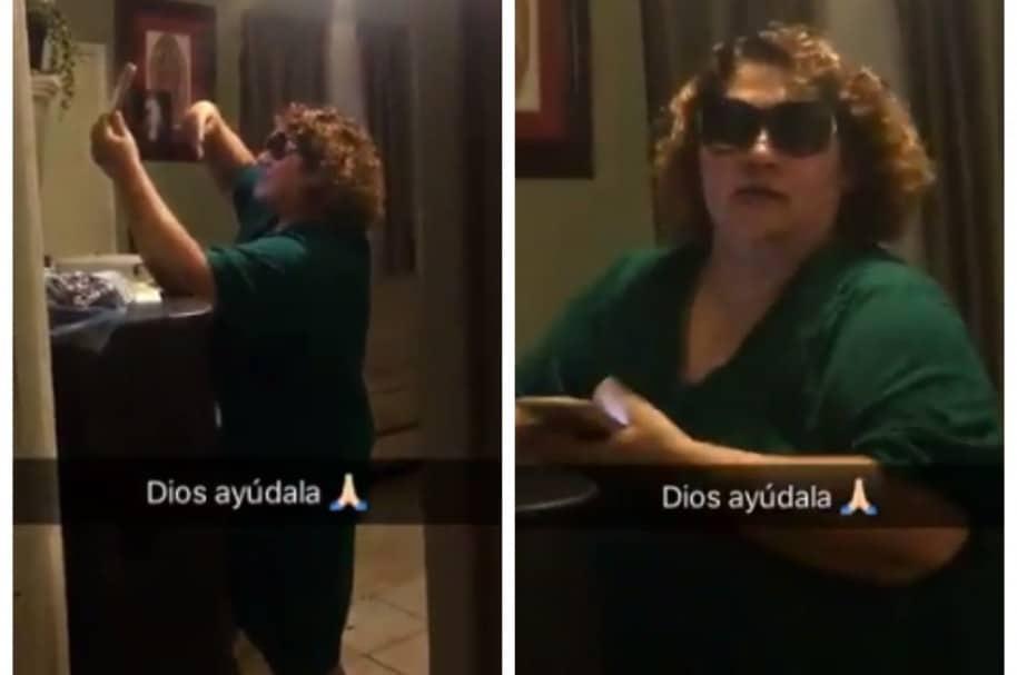 Madre falla al tomarse una selfie. Pulzo.com