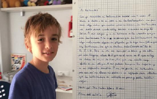 Juan Carlos escribió carta para quienes se burlaban de él