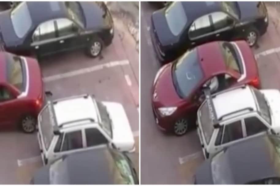 Conductor le roba el parqueadero a otro vehículo.