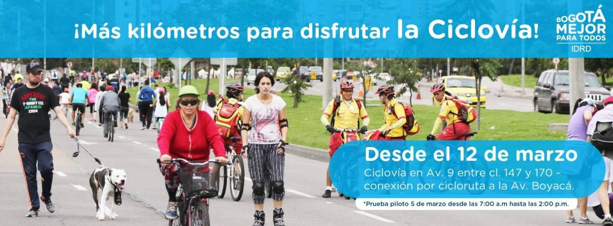 Ampliación de la ciclovía en el norte de Bogotá