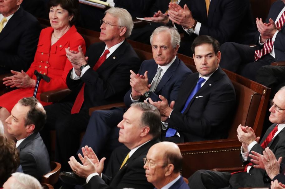 Donald Trump en sesión del Senado