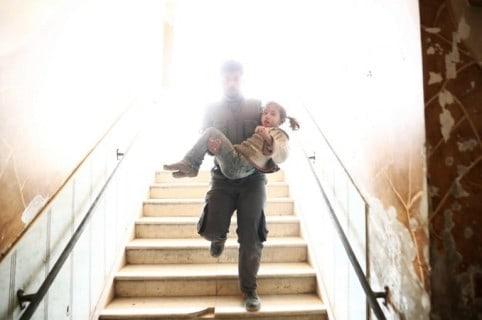 Rescate de niña siria.
