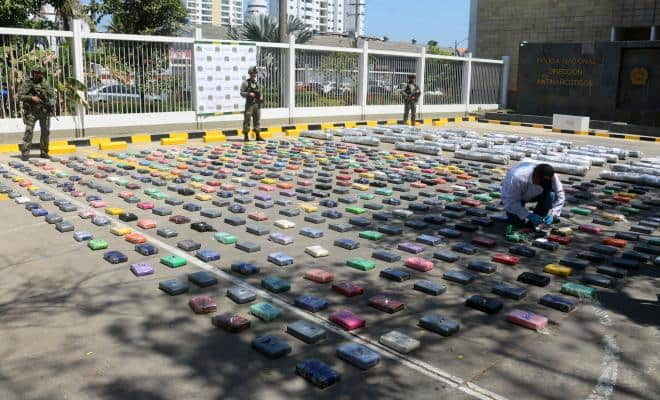 Cocaína incautada en Cartagena