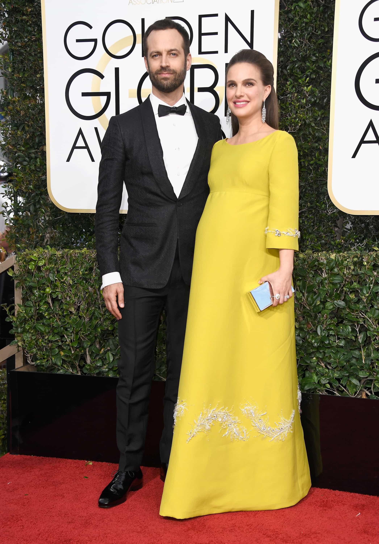 Benjamin Millepied y Natalie Portman en los Globos de Oro 2017
