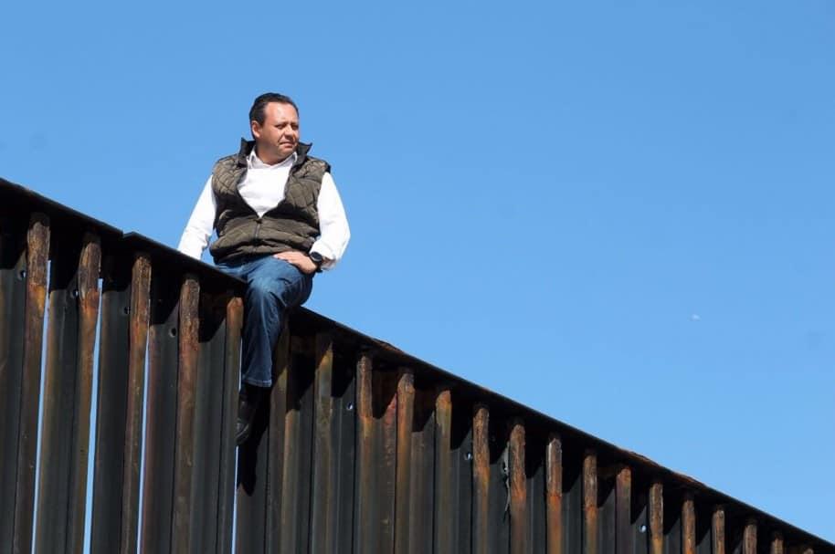 Braulio Guerra en la frontera