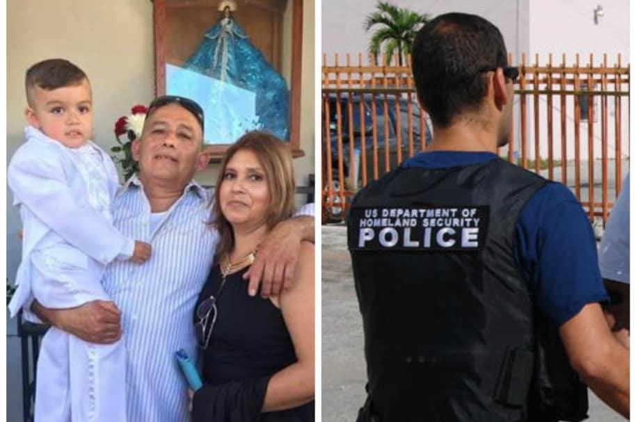 Joven grava detención de su padre