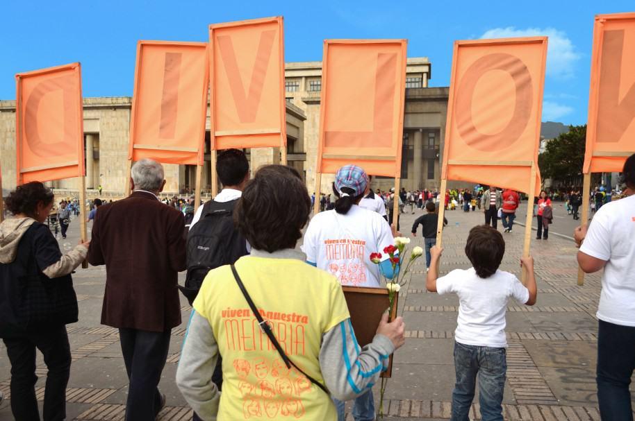 Protesta en la Plaza de Bolívar de Bogotá