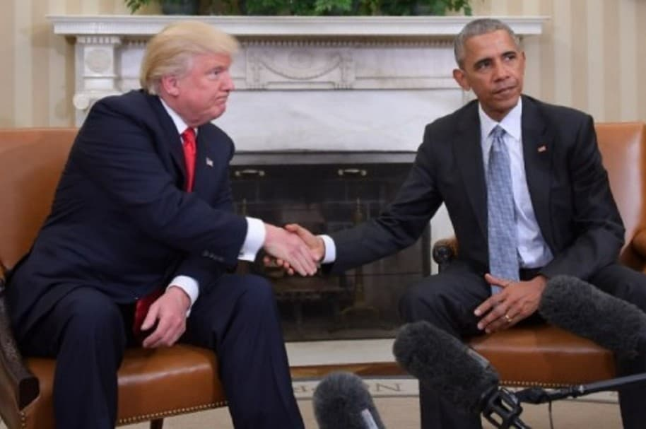 Donal Trump, presidente de Estados Unidos; Brack Obama, expresidente
