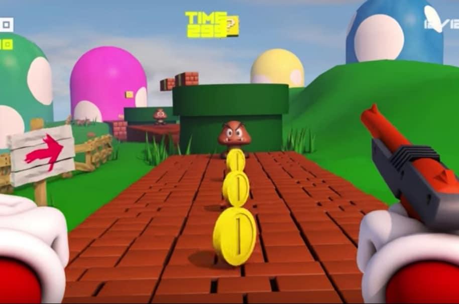 Super Mario Bross al estilo Call of Duty.