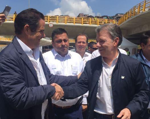 Germán Vargas Lleras y Juan Manuel Santos.