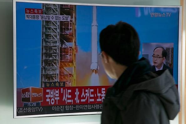 Lanzamiento de misiles en Corea del Norte