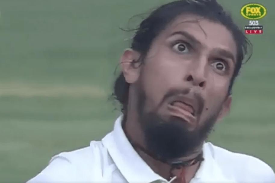 Jugador de críquet Ishant Sharma haciendo muecas. Pulzo.com