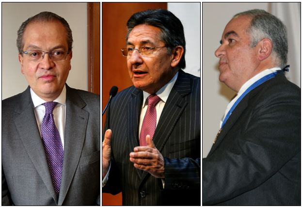 Fernando Carrillo, Procurador; Néstor Humberto Martínez, Fisal, y Edgardo Maya, Contralor.